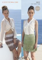 Sirdar Cotton DK Crochet Pattern - 7077 Skirts